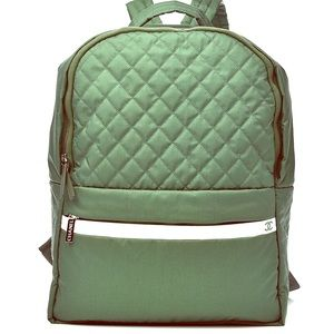 Chanel *RARE* Green Nylon Quilted Backpack